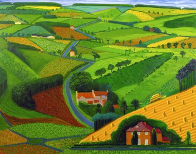 Hockney - The Road Across the Wolds 1997. Photograph Steve Oliver