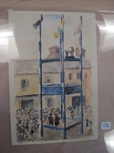 Murray's watercolor recreation of image of Puck Fair