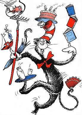 The Cat in the Hat copyright Dr Seuss