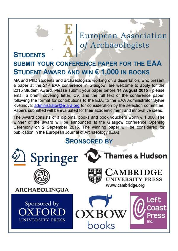 Student Award flyer 2015