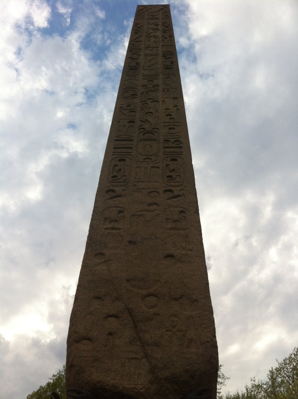 Cleopatra's Needle stands just behind the Met in the Park.
