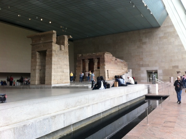 Temple of Dendur.  Yes, it's inside the building.