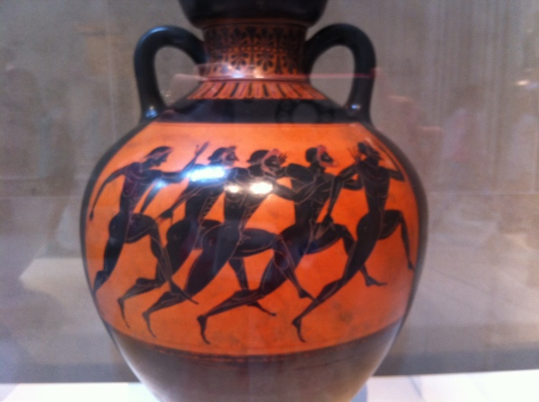 Greek vase, with runners