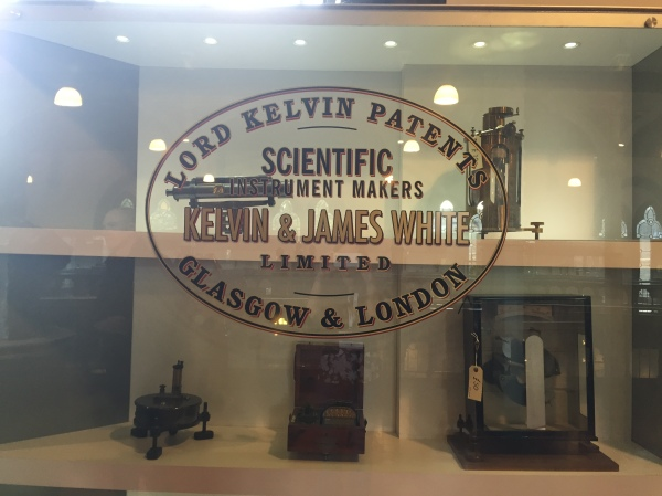 It wouldn't be Glasgow without some Kelvin instruments. Picture by Kate