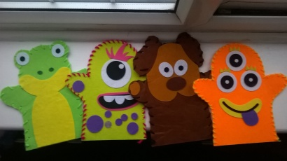 Glove puppets - thank you Wilkinsons