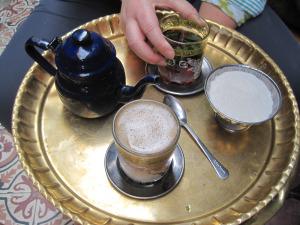 Turkish coffee and mint tea at Fishawy
