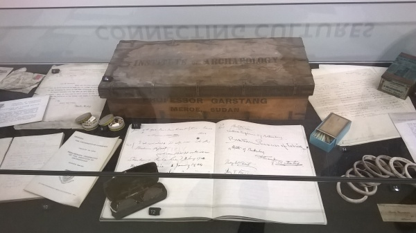 The guest book is open to record the visit of Beatrice, Princess of somewhere Germanic. Look, they've got Garstang's specs and that fantastic crate on display, why would I remember royalty in the face of that? Photo by Julia
