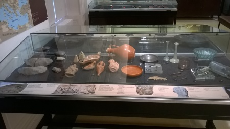 Garstang Museum 'Trade' display case - section on 'Pre-Roman Trade' done by Jon. Phot by Julia