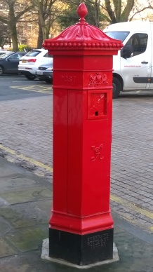 The oldest post box in Liverpool. Photo by Julia