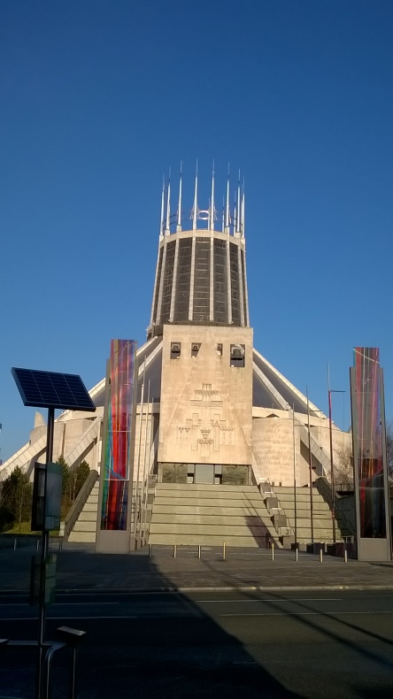 Liverpool Metropolitan Cathedral - designed by Frederick Gibberd, photo by Julia