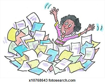 drawing-woman-buried-in-paperwork-fotosearch-search-clipart-kjvesb-clipart