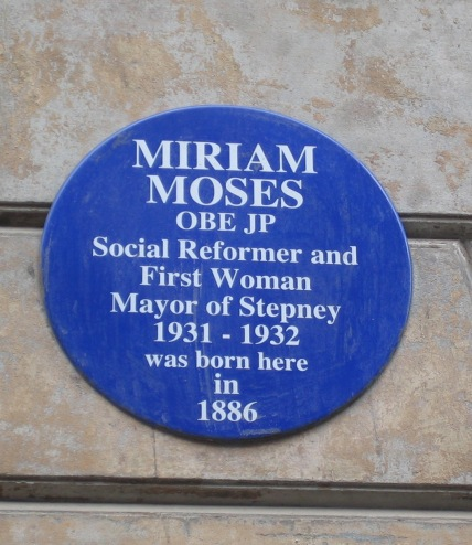 Miriam Moses Plaque in Princelet Street