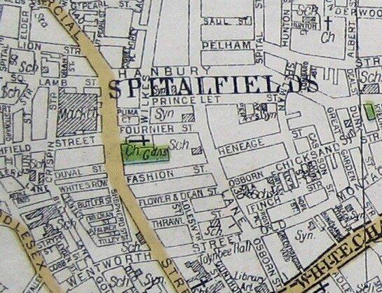 Princelet Street map