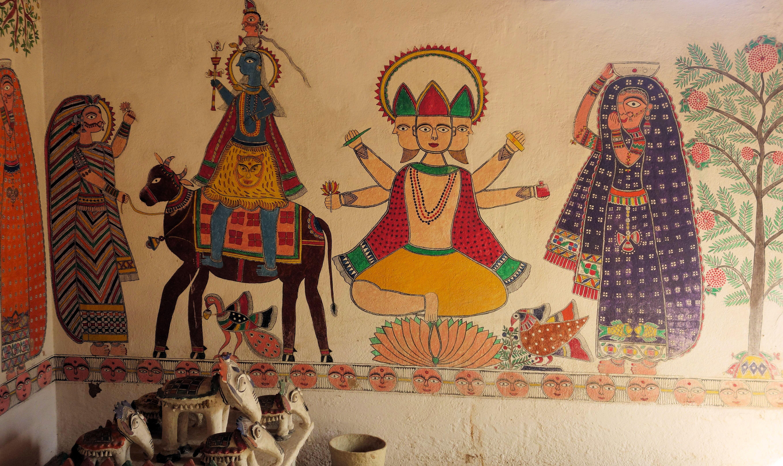 Figure 7 Wall painting Sanscriti Museum