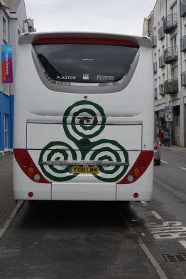 Figure 1. New Grange symbol on bus
